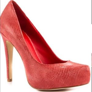 BCBGeneration 💙 PARADE Leather Pump in Red